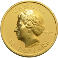 2012 Canada $50 The Queen's Portrait in Ultra High Relief Gold (No Tax)