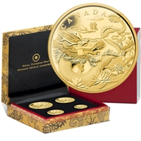 2012 Canada Year of the Dragon Pure Gold Fractional Set (TAX Exempt)