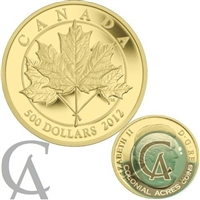 2012 Canada $500 Maple Leaf Forever 5oz. Fine Gold Coin (TAX Exempt)