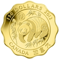 2012 Canada $150 Blessings of Good Fortune Fine Gold Coin (TAX Exempt)