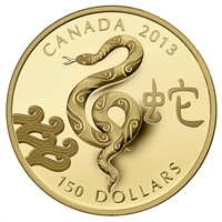 2013 Canada $150 Gold - Year of the Snake (#4 in series).