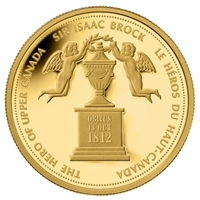 2012 Canada $350 Sir Isaac Brock - Hero of Upper Canada Pure Gold (No Tax)