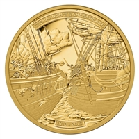 2013 Canada $500 HMS Shannon & USS Chesapeake 5oz. Fine Gold (No Tax)