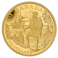 2013 Canada $200 Jacques Cartier 1/2oz. Pure Gold Coin (TAX Exempt)