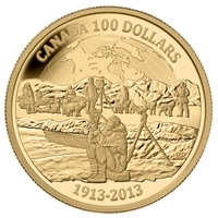 2013 Canada $100 100th Anniversary of the Arctic Expedition 14K Gold
