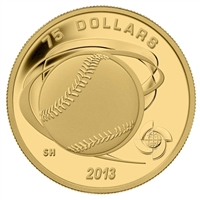 2013 Canada $75 Baseball - Hardball 1/4oz. Fine Gold Coin (TAX Exempt)