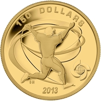 2013 Canada $150 Baseball - Celebration 1/2oz Fine Gold Coin (No Tax)