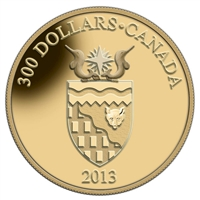 2013 Canada $300 14K Coat of Arms - Northwest Territories Gold