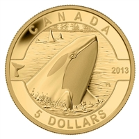 2013 $5 O Canada - Orca (#5) Pure Gold Coin (No Tax) - 123927