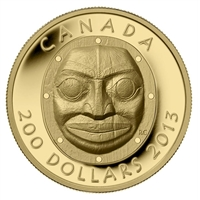 2013 Canada $200 Grandmother Moon Mask Pure Gold Coin (No Tax) 124568