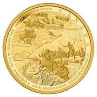 2013 Canada $2500 Battle of Chateauguay & Battle of Crysler Gold (No Tax)