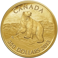 2013 Canada $350 Iconic Polar Bear Pure Gold Coin (No Tax)