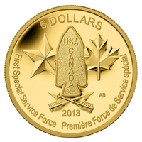 2013 Canada $5 Devil's Brigade Pure Gold Coin (TAX Exempt) - 126600