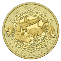 2013 Canada $500 An Aboriginal Story 5oz. Pure Gold Coin (No Tax)