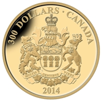 2014 Canada $300 14K Provincial Coats of Arms - Saskatchewan Gold