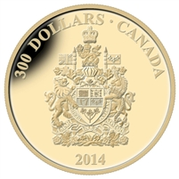 2014 Canada $300 Canadian Coat of Arms 14K Gold Coin 128535