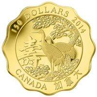 2014 Canada $150 Blessings of Longevity Pure Gold (No Tax)