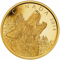 2014 Canada $1250 Howling Wolf Half Kilo Pure Gold Coin (TAX Exempt)