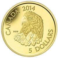 2014 Canada $5 Bald Eagle Pure Gold Coin (TAX Exempt) 130527