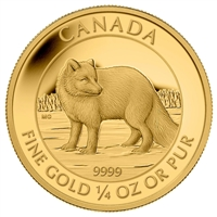 2014 Canada $10 Arctic Fox 1/4oz. Pure Gold Coin (No Tax)