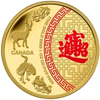 2014 Canada $50 Five Blessings 1oz. Pure Gold Coin (TAX Exempt)