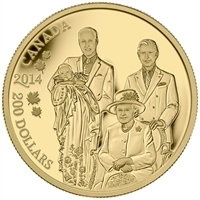 2014 Canada $200 Royal Generations Pure Gold Coin (No Tax) - 134356