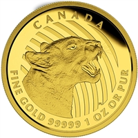 2015 Canada $200 Growling Cougar Proof Pure Gold Coin (No Tax) 134664