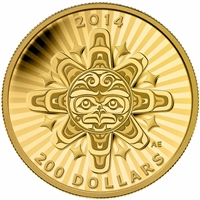 2014 Canada $200 Interconnection: Air - The Thunderbird Gold (No Tax)