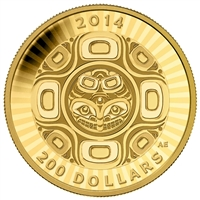 2014 Canada $200 Interconnection Sea: The Orca Gold (No Tax)