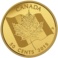 2015 Canada 50-cent Maple Leaf 1/25oz. Pure Gold Coin (No Tax) Lightly Worn Sleeve