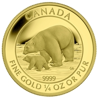 2015 Canada $10 Polar Bear and Cub Pure Gold Coin (TAX Exempt)