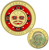 2015 Canada $200 Singing Moon Mask Pure Gold Coin (TAX Exempt) 142547