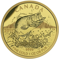 2015 Canada $200 North American Sportfish - Largemouth Bass Gold (No Tax)