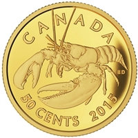 2015 Canada 50ct Lobster - Sea Creatures 1/25oz Pure Gold Coin (No Tax) Dented Box