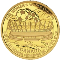 2015 Canada $75 FIFA Women's - Championship Game Pure Gold (NO Tax)