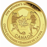 2015 Canada $75 FIFA Women's World Cup - Soccer Ball Gold (No Tax)