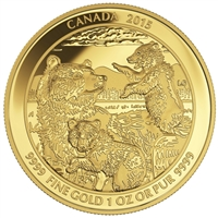 2015 Canada $200 Grizzly Bear The Clan Pure Gold Coin (No Tax) 145426