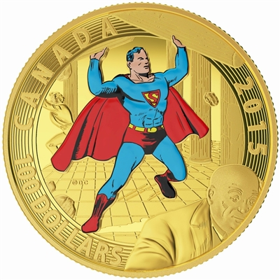 2015 Canada $100 Iconic Superman Comic Book Covers: Superman #4 14K Gold