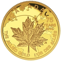 2015 Canada $75 Allied Gold 1/4oz. Pure Gold (No Tax)