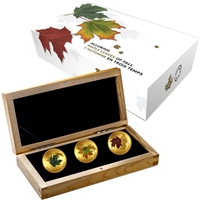 2015 Canada $200 Alluring Maple Leaves of Fall Gold Set (No Tax)