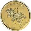 2016 Canada $10 Maple Leaves with 2003 Effigy 1/4oz. Pure Gold Coin (No Tax)