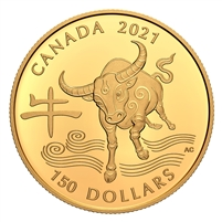 2021 Canada $150 18KT Year of the Ox Gold Coin