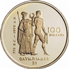 1976 Canada $100 Montreal Olympic Commemorative 22K Gold Coin
