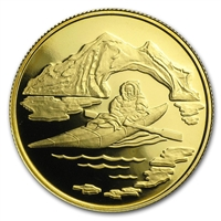 1980 Canada $100 Arctic Territories 22K Gold Coin