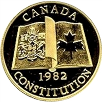 1982 Canada $100 Patriation - Canadian Constitution 22K Gold Coin