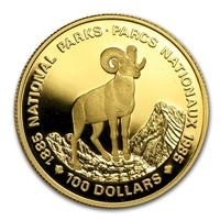 1985 Canada $100 National Parks Centenary 22K Gold Coin