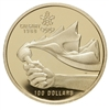1987 Canada $100 XV Olympic Winter Games 14K Gold Coin