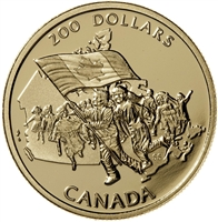 1990 Canada $200 The Silver Jubilee of the Canadian Flag 22K Gold Coin