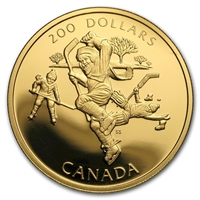 1991 Canada $200 A National Passion 22K Gold Coin