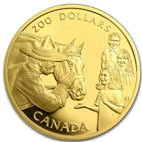 1993 Canada $200 Royal Canadian Mounted Police 22K Gold Coin